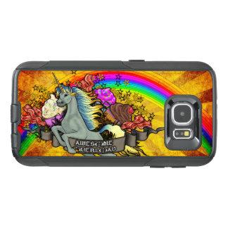 素晴らしい積み過ぎのユニコーン、虹及びベーコン オッターボックスSamsung GALAXY S6ケース
