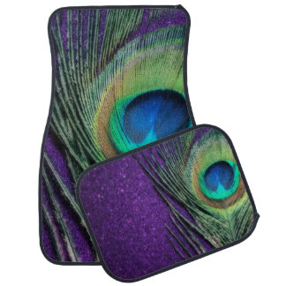 素晴らしい紫色の孔雀の羽 カーマット