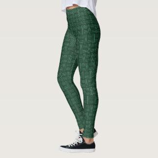 素晴らしい緑の白い動物Pattern#54cのレギンスのズボン レギンス