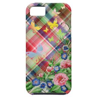 素晴らしい花および蝶 iPhone SE/5/5s ケース