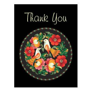 素晴らしい花のカッコいいのかわいくガーリーなレトロの花柄 ポストカード