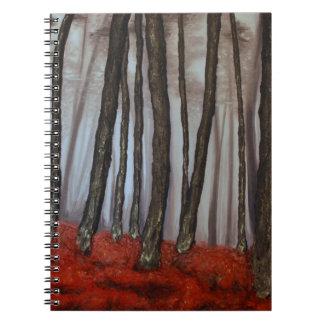 素晴らしい芸術家によるアリソンGalvan秋の影 ノートブック