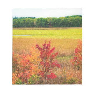 素晴らしい草原の秋の木 ノートパッド