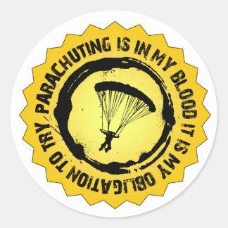 素晴らしい落下傘で降りるシール ラウンドシール