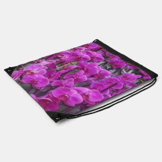 素晴らしい蘭のピンク ナップサック
