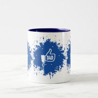 素晴らしい親指パパの(ばちゃばちゃ)跳ねるのように ツートーンマグカップ