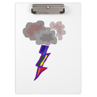 素晴らしい雷雨の雲および照明の芸術 クリップボード