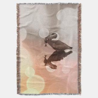 素晴らしい青鷲の日の出の反射毛布 毛布