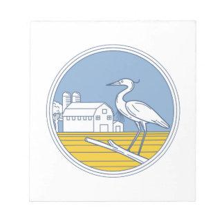 素晴らしい青鷲の農場の納屋の円のレトロ ノートパッド
