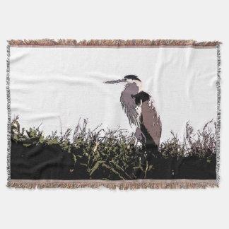 素晴らしい青鷲の鳥の野性生物の沼地のブランケット スローブランケット