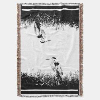 素晴らしい青鷲の鳥の野性生物動物の沼地 ブランケット