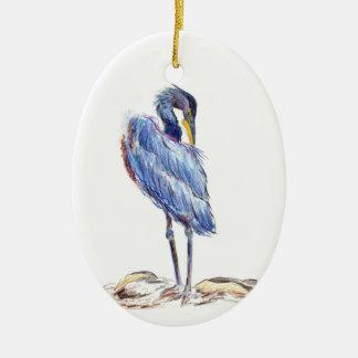 素晴らしい青鷲は羽-水彩画Penci --を片付けます セラミックオーナメント