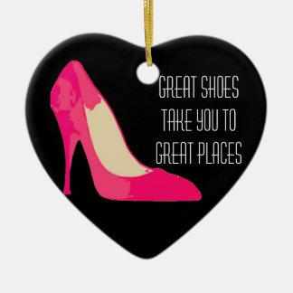 素晴らしい靴の素晴らしい場所のデザインのオーナメント セラミックオーナメント