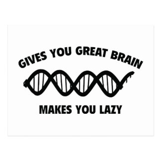 素晴らしい頭脳を与えます。 不精に作ります 葉書き