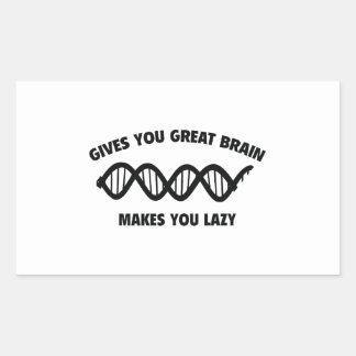 素晴らしい頭脳を与えます。 不精に作ります 長方形シール