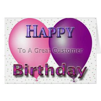 素晴らしい顧客の気球への幸せなハッピーバースデー カード