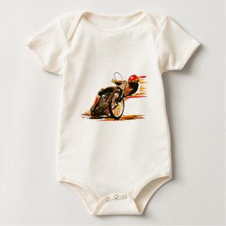 素晴らしい高速自動車道路のオートバイの衣類 ベビーボディスーツ