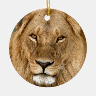 素晴らしい鬣を搭載するライオン セラミックオーナメント
