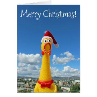 素晴らしい鶏のクリスマスカード! カード