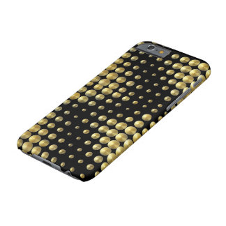 素晴らしい黒または金ゴールドパターンIPhone6ケース Barely There iPhone 6 ケース