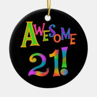 素晴らしい21枚の誕生日のTシャツおよびギフト セラミックオーナメント