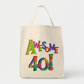 素晴らしい40枚の誕生日のTシャツおよびギフト トートバッグ