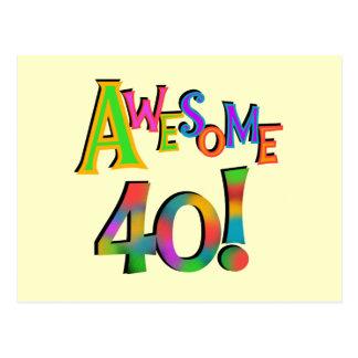 素晴らしい40枚の誕生日のTシャツおよびギフト ポストカード