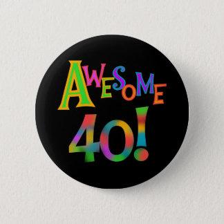 素晴らしい40枚の誕生日のTシャツおよびギフト 5.7CM 丸型バッジ
