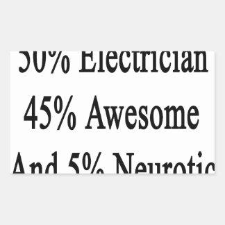 素晴らしい50の電気技師45および5神経症患者 長方形シール