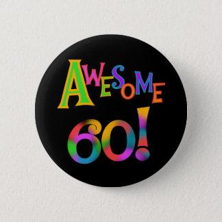 素晴らしい60枚の誕生日のTシャツおよびギフト 5.7CM 丸型バッジ