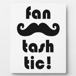 素晴らしい「ファンTash Tic」の口ひげのマグ フォトプラーク