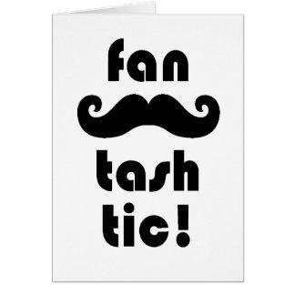 素晴らしい「ファンTash Tic」の口ひげの挨拶状 カード