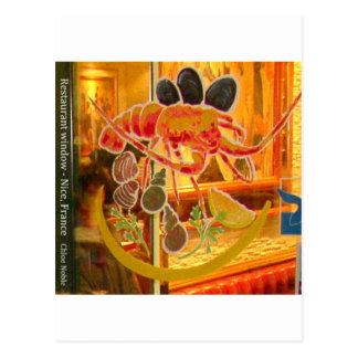 素晴らしい、フランス-ステンドグラス窓 ポストカード