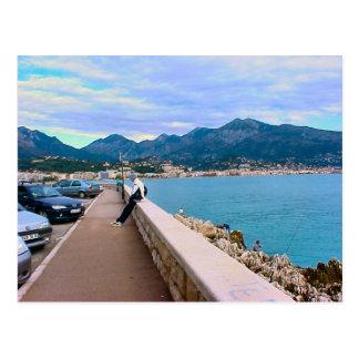 素晴らしい、リビエラの地中海のな水辺地帯 ポストカード