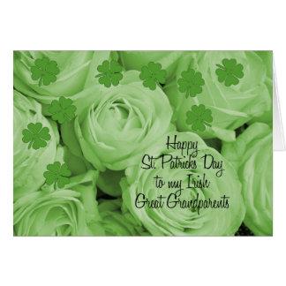 素晴らしい-祖父母のセントパトリックのアイルランドのバラ カード