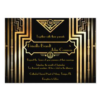 素晴らしいGatsby結婚式招待状式 カード