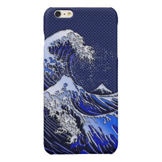 素晴らしいHokusaiの波のクロムカーボン繊維のスタイル