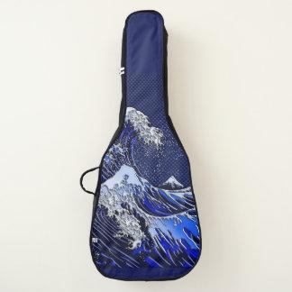 素晴らしいHokusaiの波のクロムカーボン繊維のスタイル ギターケース