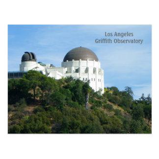 素晴らしいLAのグリフィスの観測所の郵便はがき! ポストカード