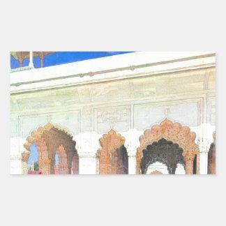 素晴らしいMughal Shah Jahanの王位ホール 長方形シール