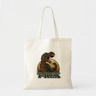 素晴らしいtレックスの茶色および緑の絵 トートバッグ