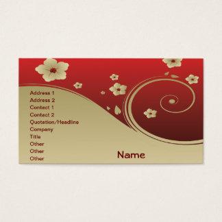 素晴らしくかわいくクールでガーリーなレトロの花のファッション 名刺