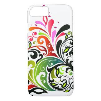 素晴らしくかわいくクールでガーリーなレトロの花のファッション iPhone 8/7ケース