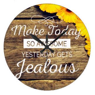 素晴らしくやる気を起こさせるな生命引用文を今日作って下さい ラージ壁時計