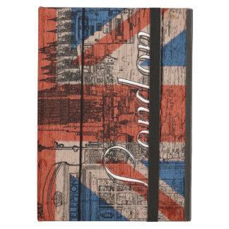 素晴らしくクールで粋で古い木製のグランジなイギリスの旗 iPad AIRケース
