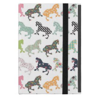 素晴らしくクールで粋な馬パターン、ヴィンテージの花柄 iPad MINI ケース