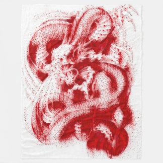 素晴らしく中国のな皇帝のドラゴン血のアクリル フリースブランケット
