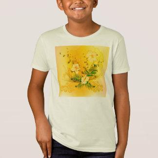 素晴らしく柔らかく黄色い花 Tシャツ