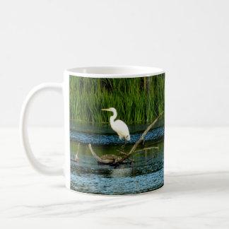 素晴らしく白い白鷺のマグ コーヒーマグカップ