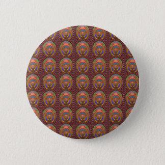 素晴らしく芸術的な色の陰の質感nパターン 缶バッジ